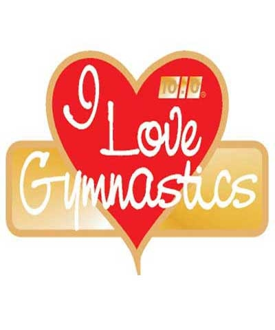 I Love Gymnastics Pin
