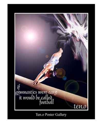 "18""x24"" Women's Gymnastics Poster FREE SHIPPING"