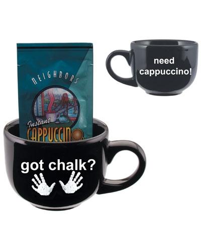Got Chalk Cuppuccino Black Latte Mug