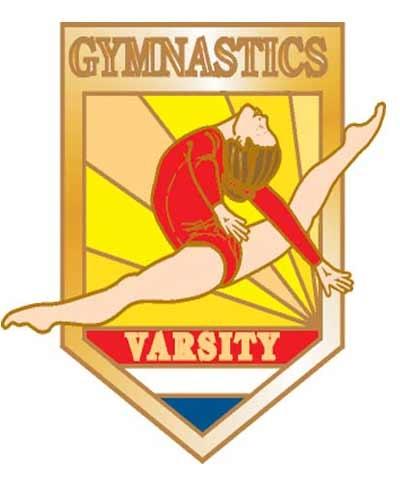 Gymnastics Varsity Pin