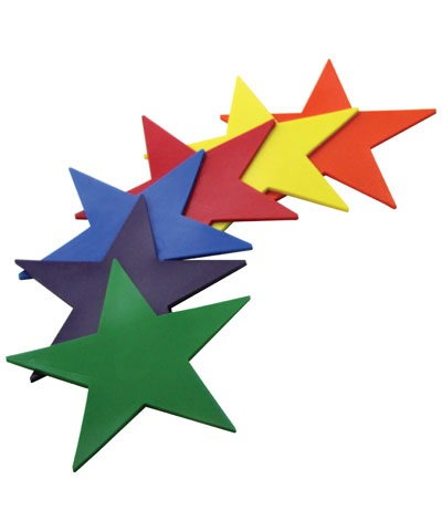 Poly Pad Rainbow Stars (Set of 6) FREE SHIPPING