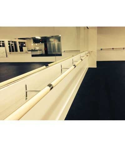 8 Ft Ballet Fitness Barre with Brackets Every 4'