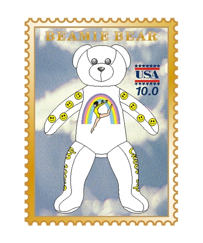 Cheer Up Beamie Bear Pin