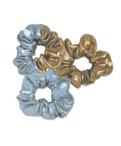 Gold And Silver Scrunchies