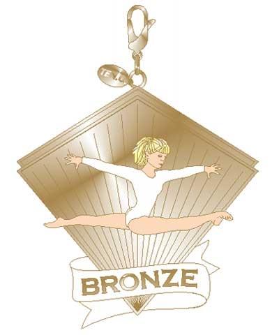Xcel Bronze Split Leap Charm