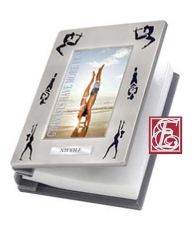 Engraved Gymnastics Silhouette Photo Album