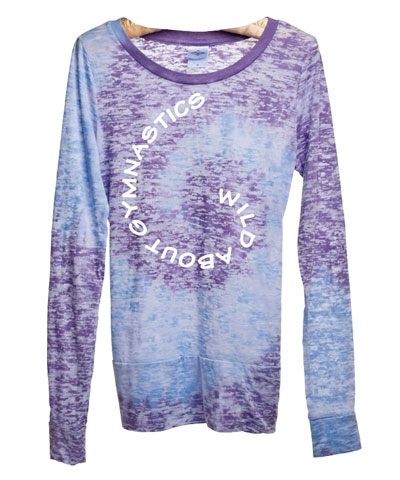 Purple & Blue Wild About Gymnastics Burnout Tee