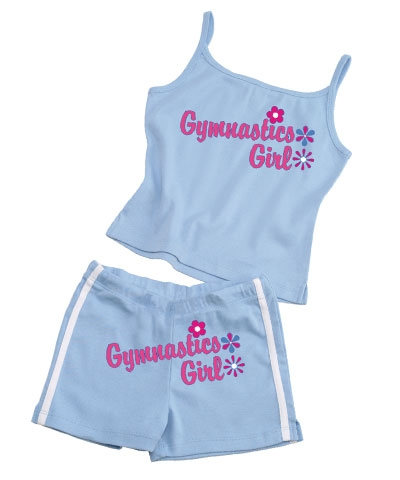Gymnastics Girl Shorts-Baby Blue