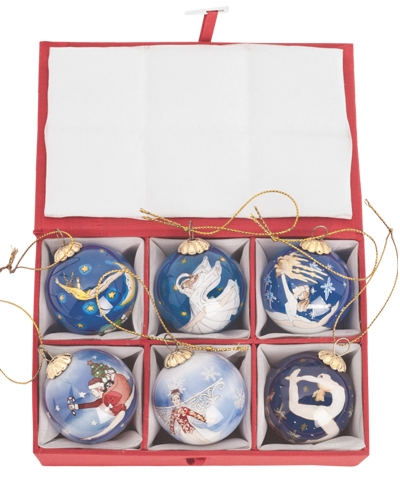 Holiday Leap Retrospective Set of 6 Mini Christmas Balls