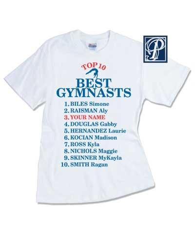 Personalized Top 10 Best Women Gymnast Tee