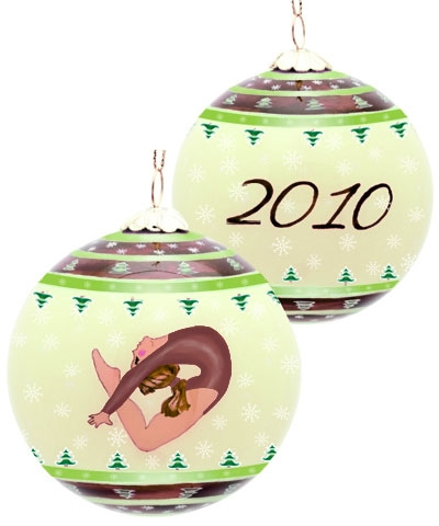 Yuletide Christmas Leap Ornament