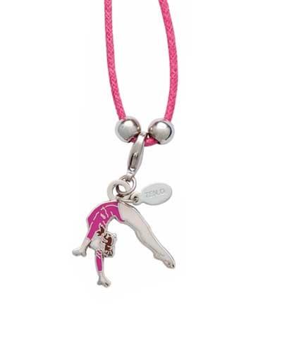 Back Handspring Charm & Cord Necklace