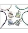 Teal & Lavender 3 Strand Necklace