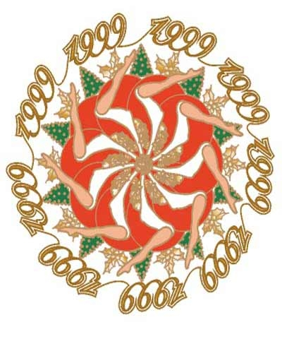 Inverted Giant Christmas Pin