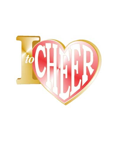 I Love To Cheer Pin