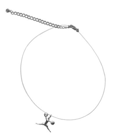 Silver Cheer Jump Illusion Necklace