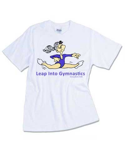 Youth Leap Into Gymnastics Tee