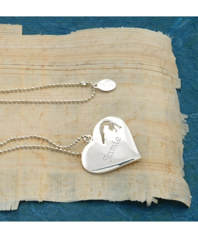 Engravable Gymnastics Heart Necklace