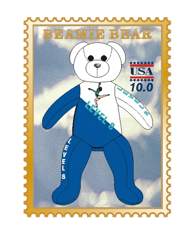Level 8 Beamie Bear Pin