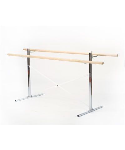8 Ft Free Standing Ballet Barre with 2 Bars