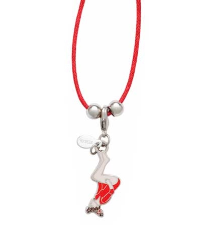 Back Tuck Charm & Cord Necklace
