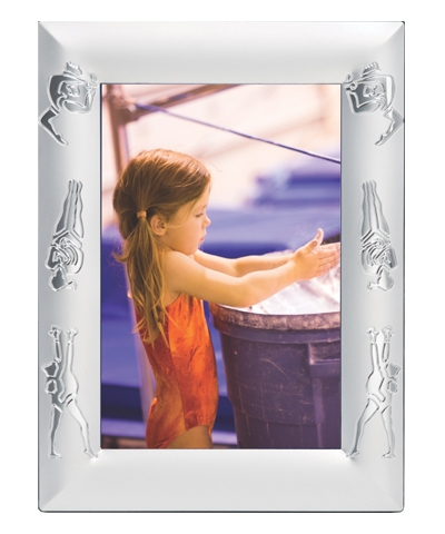 Embossed Gymnastics Picture Frame