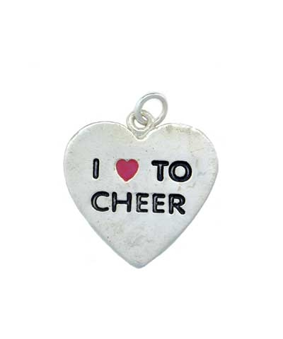 I Love To Cheer Charm