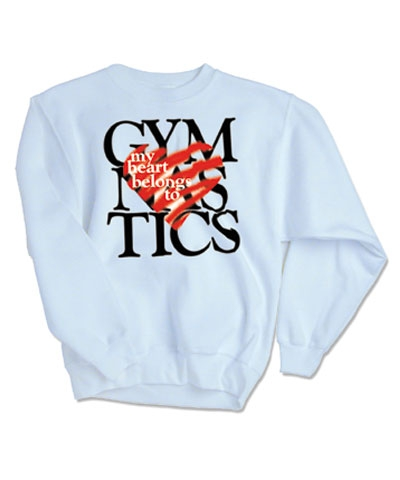 My Heart Belongs to Gymnastics Sweatshirt FREE SHIPPING
