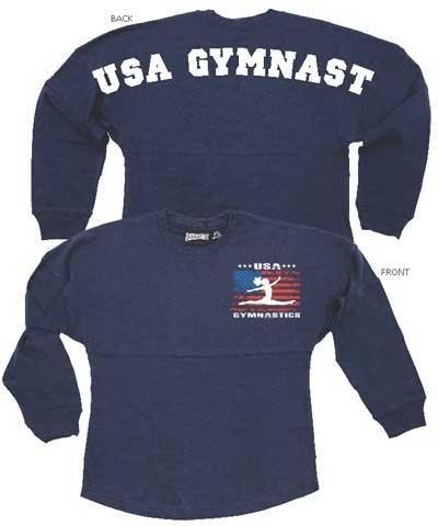 "Womens ""USA Gymnast"" Billboard Crew Shirt FREE SHIPPING"