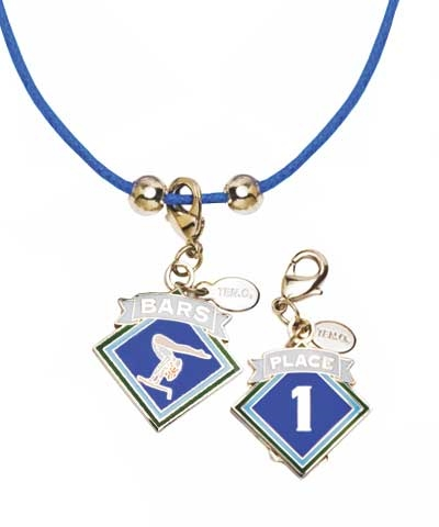 1st Place Bars Charm & Cord Necklace
