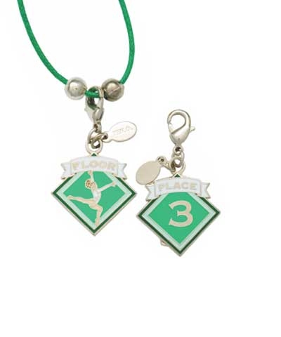 3rd Place Floor Charm & Cord Necklace