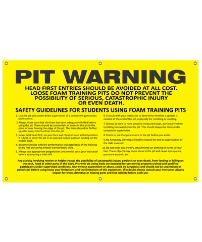 Pit Warning Banner