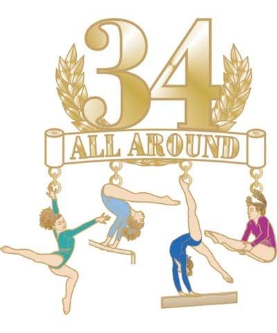 34 All Around Dangle Pin
