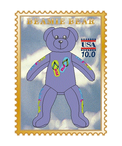 Flip Flop Beamie Bear Pin