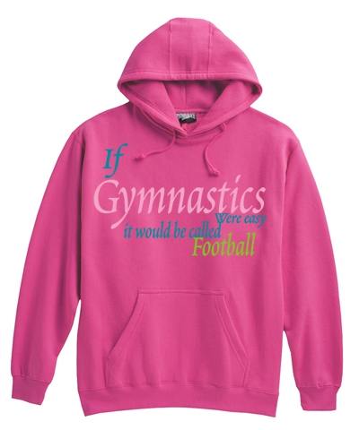 Fuchsia Gym Football Hoody FREE SHIPPING