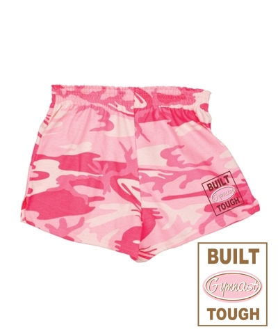 Pink Camo Built Gymnast Tough Short