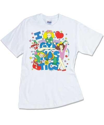 Youth I Love Gymnastics Glitter Tee