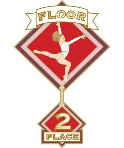 Floor 2nd Place Pin