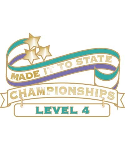 Level 4 Made It To State Pin