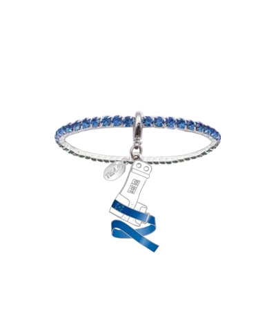 Royal Blue Rhinestone Grip Bracelet