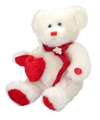 White Valentine Bear