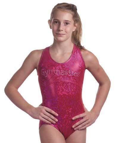 Rhinestone Heart Gymnastics Glitter Leo