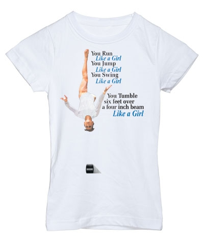 White Like A Girl Girly Tee FREE SHIPPING