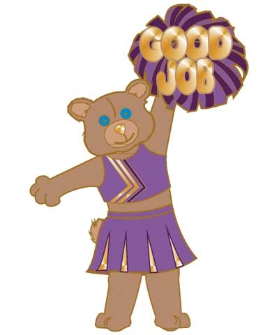 Cheerleader Good Job Pin