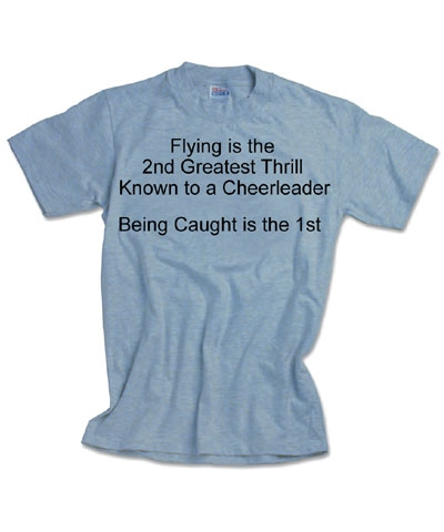 Cheerleader Flying is 2nd Tee