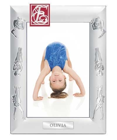 Engraved Gymnastics Picture Frame