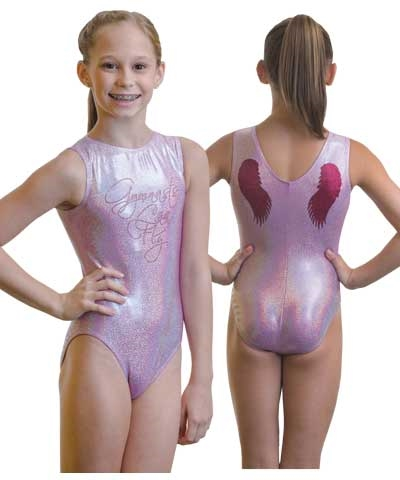 Lavender Sparkle GYMNASTS CAN FLY Leo
