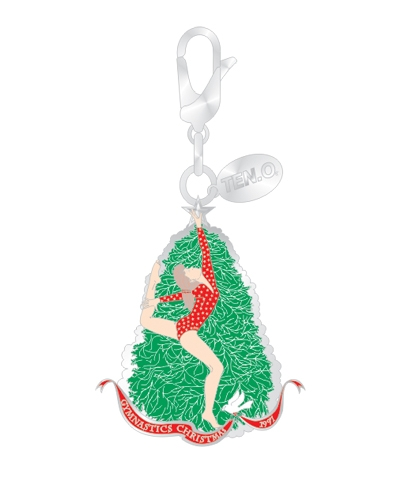 Ring Leap Christmas Tree Silvertone Charm