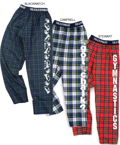 Customized Flannel Gym Jammies