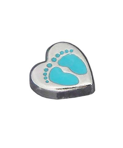 Footprints Floating Charm